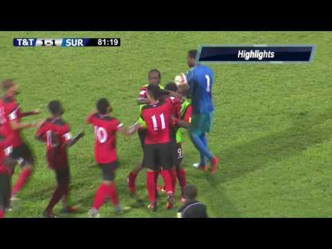 Trinidad y Tobago 1 vs 2 Surinam | COPA DEL CARIBE-REPECHAJE 2017