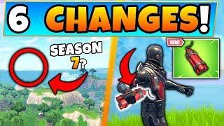 Fortnite Update: DYNAMITE Item & SEASON 7 Clue! - 6 Changes in Battle Royale!