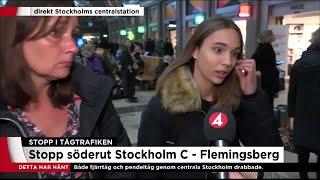 """""""Ofta avbrott och usel service till förseningsdrabbade"""" - Nyheterna (TV4)"""