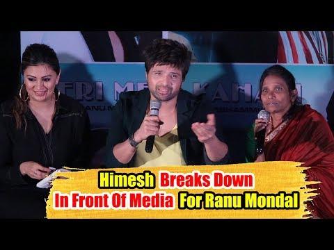 Himesh Reshammiya CRYING 😭😭😭 For Ranu Mondal At Teri Meri Kahani OFFICIAL Song Launch