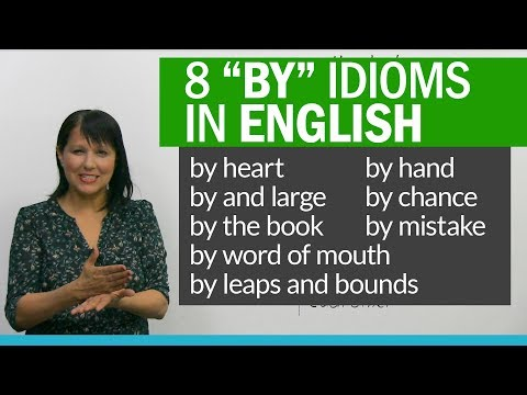 8 English Idioms to learn BY heart!