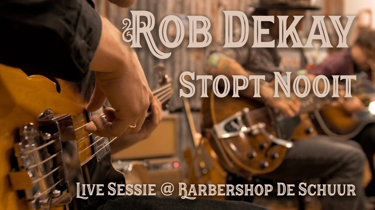 Rob Dekay - Het Stopt Nooit (Live @ Barbershop De Schuur)