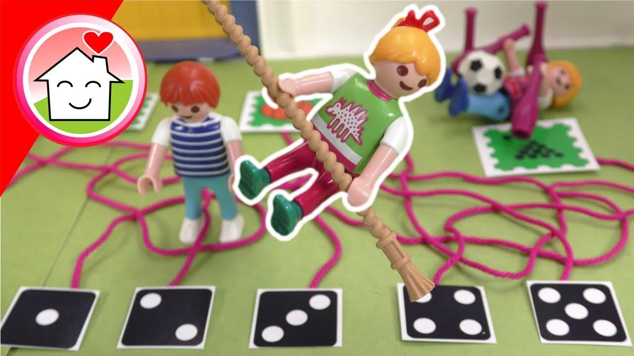 Playmobil Familie Hauser - Würfel nicht die falsche Sportart - Sportunterricht mit Lena