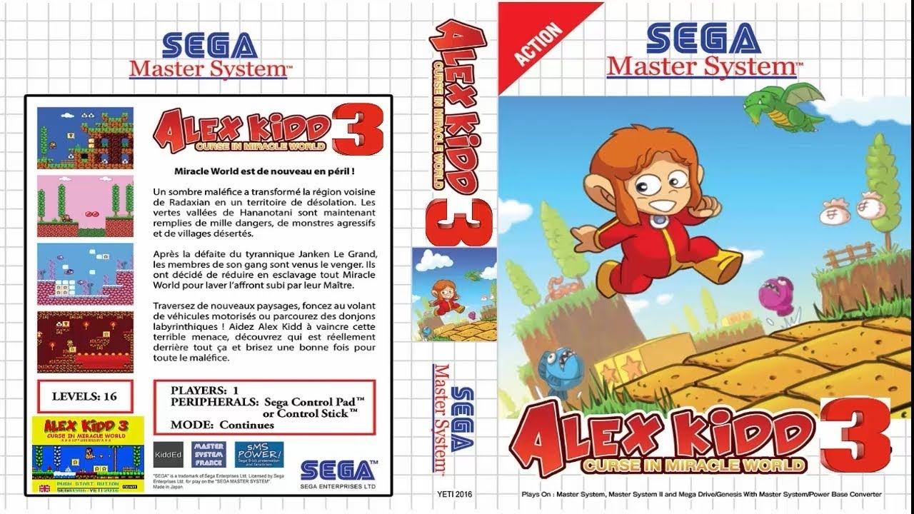 Alex Kidd 3 Curse In Miracle World Youtube