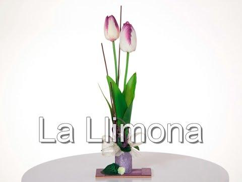 Arreglos Florales Arreglo Floral Tulipanes Artificiales Lila 31 La Llimona