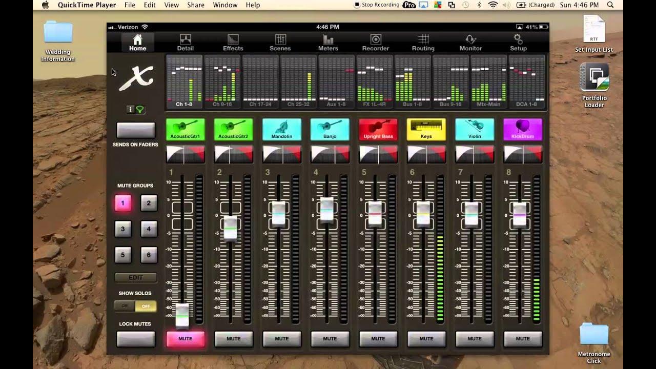 behringer x32 ipad monitor mixing x32 mix app youtube. Black Bedroom Furniture Sets. Home Design Ideas