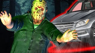 Jason Araba'nın Altında Kaldı 👿 Jason 13.Cuma 👿 [ Friday the 13th the Game ]