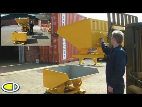 Forklift Tipping Skip - www.forklift-attachments.co.uk