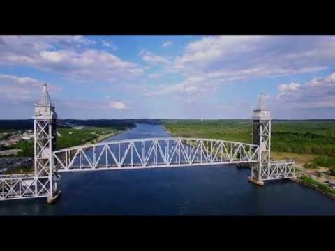 Buzzards Bay Railroad Bridge - 4K via Drone!