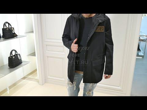 Мужская куртка-парка от FENDI, плотная ткань, Review: ID 163134
