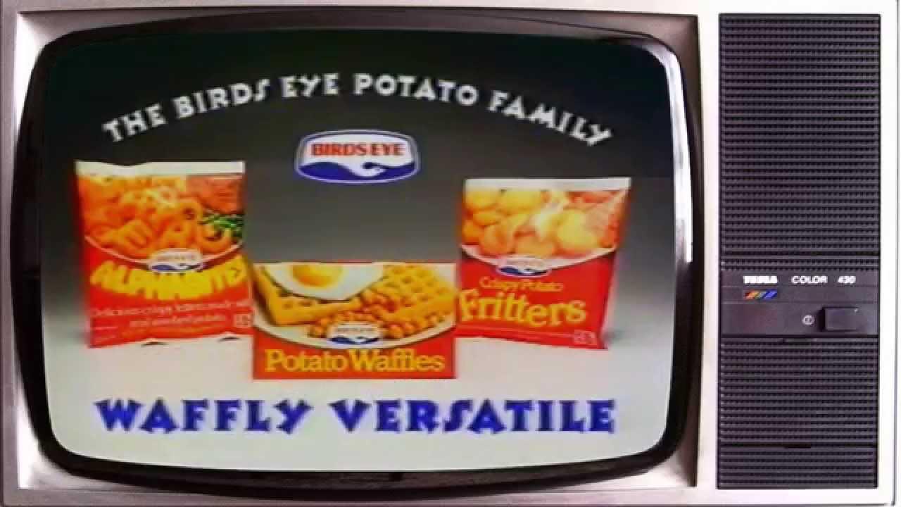 Birds Eye Potato waffles original TV advert entry for ...