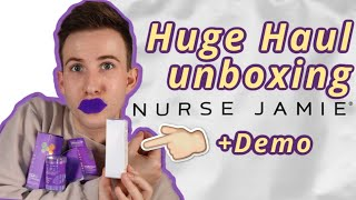 Nurse Jamie HAUL Unboxing review + demo Lip Plumper and Plumping Mask