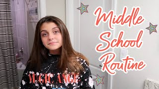 MIDDLE SCHOOL HAIR AND MAKEUP ROUTINE! MY FIRST GRWM! EMMA AND ELLIE