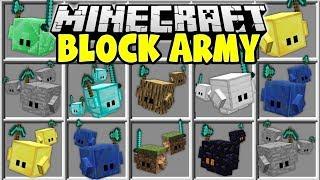 Minecraft BLOCK ARMY MOD   CRAFT MINECRAFT BLOCK MINIONS TO PROTECT YOU!!