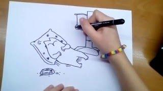Няшка-Рисовашка -- кот Саймон(В этом видео вы узнаете как нарисовать кота Саймона. Если вам понравилось это видео, то обязательно оставля..., 2016-01-15T10:32:13.000Z)