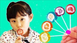 과일 막대사탕을 먹어봤어요2 finger family & baby shark song nursery rhymes