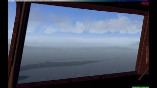 Flight simulator X - landing at CYYJ DC-4