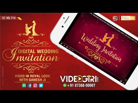Updated Digital Wedding Invitation Video In Royal Look Save The