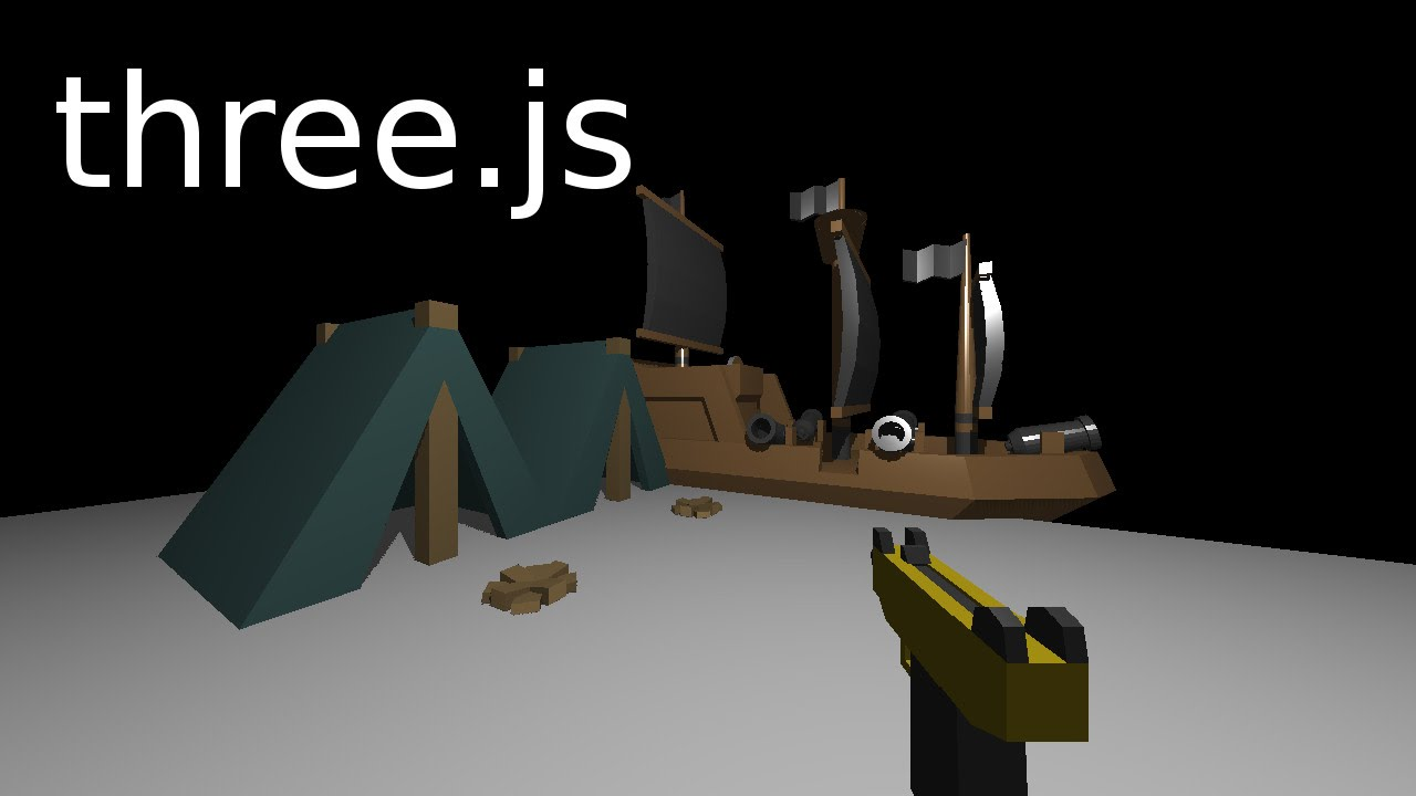 Learning three js 08 :: First Person Gun View