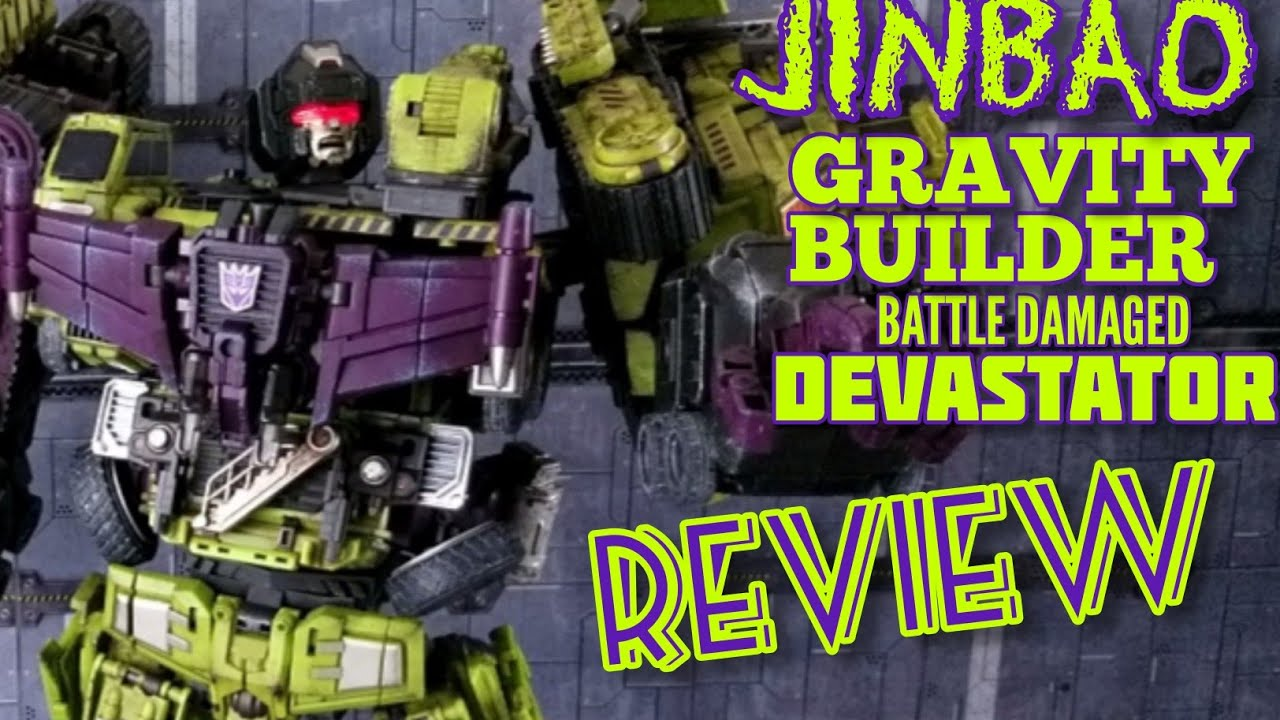 Jinbao Oversized KO Gravity Builder (Devastator) Battle Damaged version review By Kato's Kollection