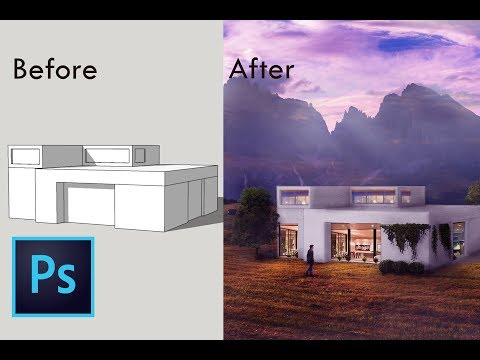 Extreme Architecture Visualization Rendering | Photoshop Post Production