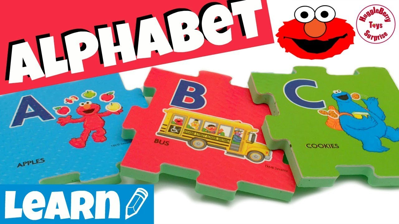 Blocks, Tiles & Mats Educational Reliable Sesame Street Alphabet Foam Floor Mat Puzzle 2-5 Years Elmo Big Bird