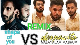 Despacito - remix Malayalam Mashup | Farzee ft Safdar Hafiz, Aadhi De Kar Ed-Sheeran Shape Of you