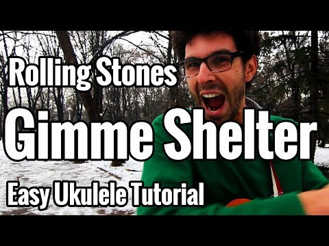 Rolling Stones - Gimme Shelter Ukulele Tutorial With Tabs