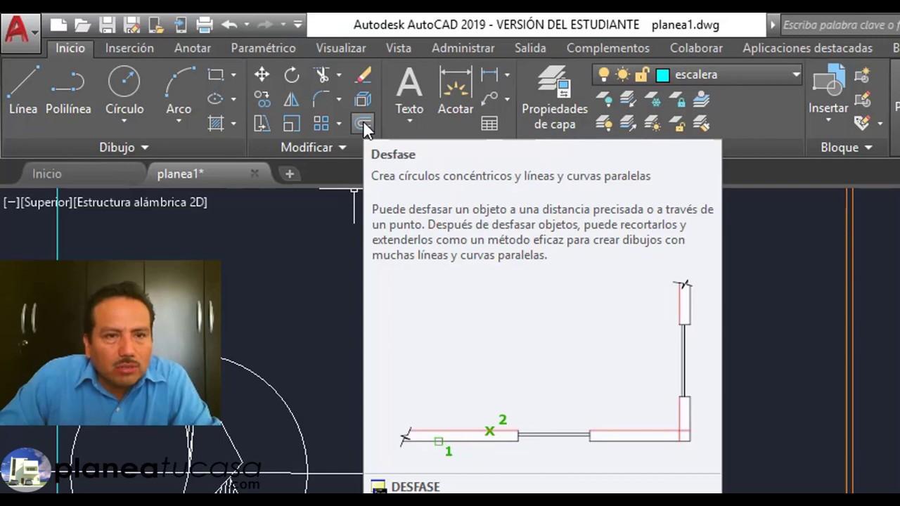 como dibujar lineas paralelas en autocad
