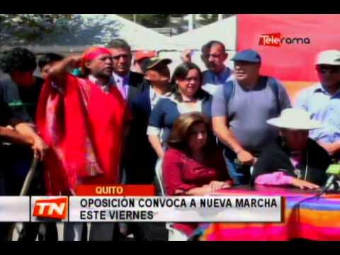 Oposición convoca a nueva marcha este viernes