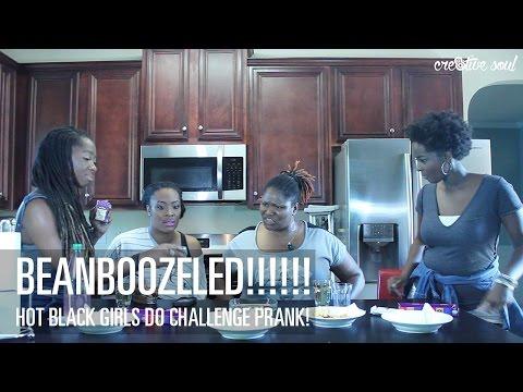 CRE8TIVE SOUL | HOT BLACK GIRLS DO BEANBOOZLE CHALLENGE PRANK!