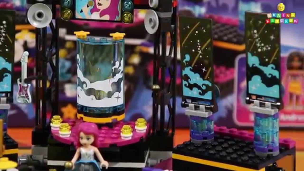 Pop Star Show Stage Scena Gwiazdy Pop 41105 Lego Friends Youtube