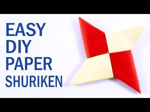 EASY DIY PAPER SHURIKEN (Ninja Star) TUTORIAL | The EASIEST way (2019)