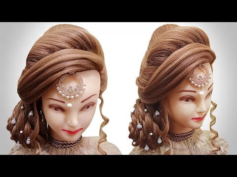 bridal-hairstyle-|-juda-hairstyle-for-long-hair-|-hair-style-girl-for-wedding-|-kashees-hair-style
