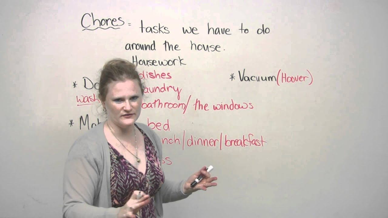 DO & MAKE - How to talk about housework in English