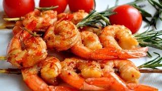 Креветки в соусе с чесноком shrimp sauce
