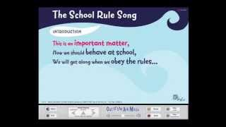 The School Rule Song - Words on Screen™ Original - School Songs(The School Rule Song by Mark and Helen Johnson from Songs for EVERY Assembly http://outoftheark.co.uk/songs-for-every-assembly.html Words and Music ..., 2013-05-29T15:19:03.000Z)
