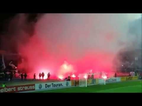 Frankfurter Pyroshow in Aue - DFB Pokal (Erzgebirge Aue - Eintracht Frankfurt)