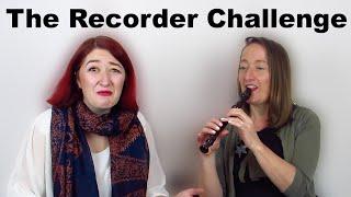 Me Vs Mum - The Recorder Challenge (ft. Jilly Bird)