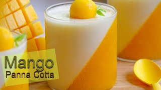 Tasty Mango Panna Cotta Recipe | Simple Mango Pudding Recipe | How to make Panna Cotta at Home