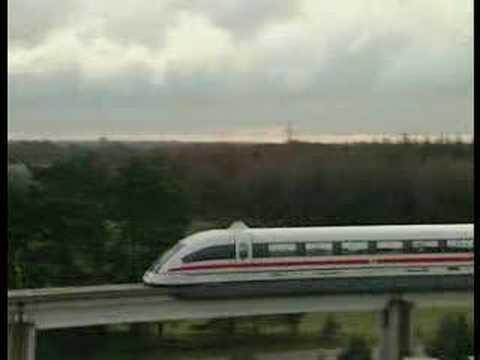 German Transrapid Emsland 500 km/h