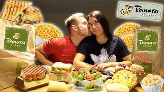 WE ATE EVERYTHING WE WANTED FROM PANERA! (DINNER & DESSERT MUKBANG)