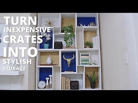 Upcycled Crate Storage Shelf   HGTV