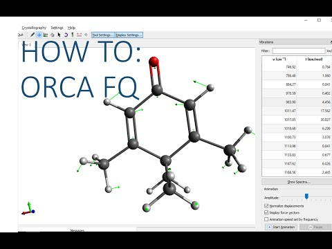 Avogadro with ORCA Tutorial: frequencies - YouTube