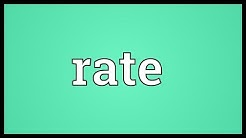 Rate Meaning