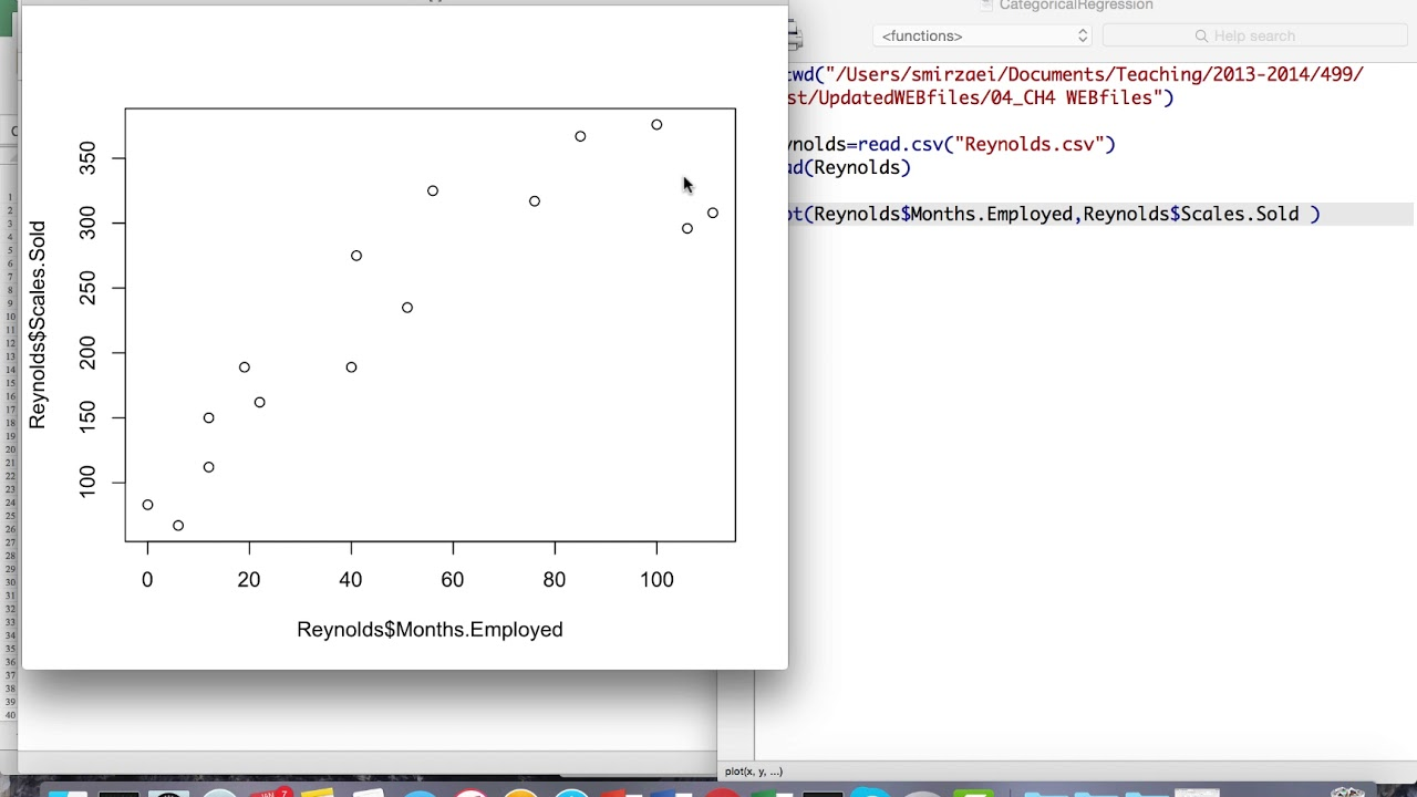 How to create a Quadratic Regression Model in R