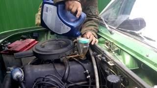 Проливаю двигатель свежим маслом