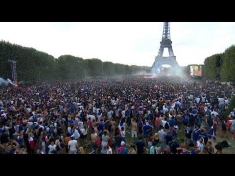 Finale: le 4e but français fait trembler la fan zone de Paris