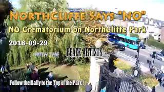 No To The Crematorium Northcliffe Park Shipley 29th September 2018 FULL Drone Video