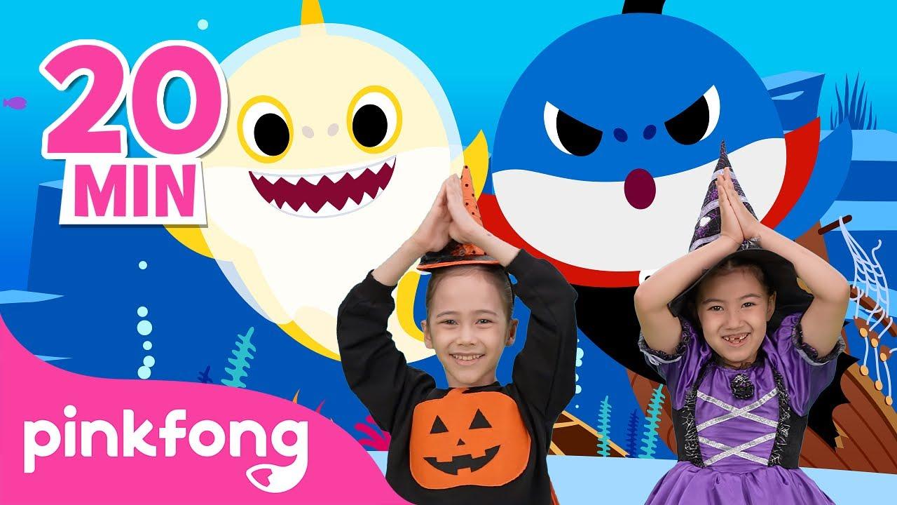 Baby Shark Dance (Halloween ver.) and more 👻🎃 | Halloween Dance Along | Pinkfong Dance for Kids